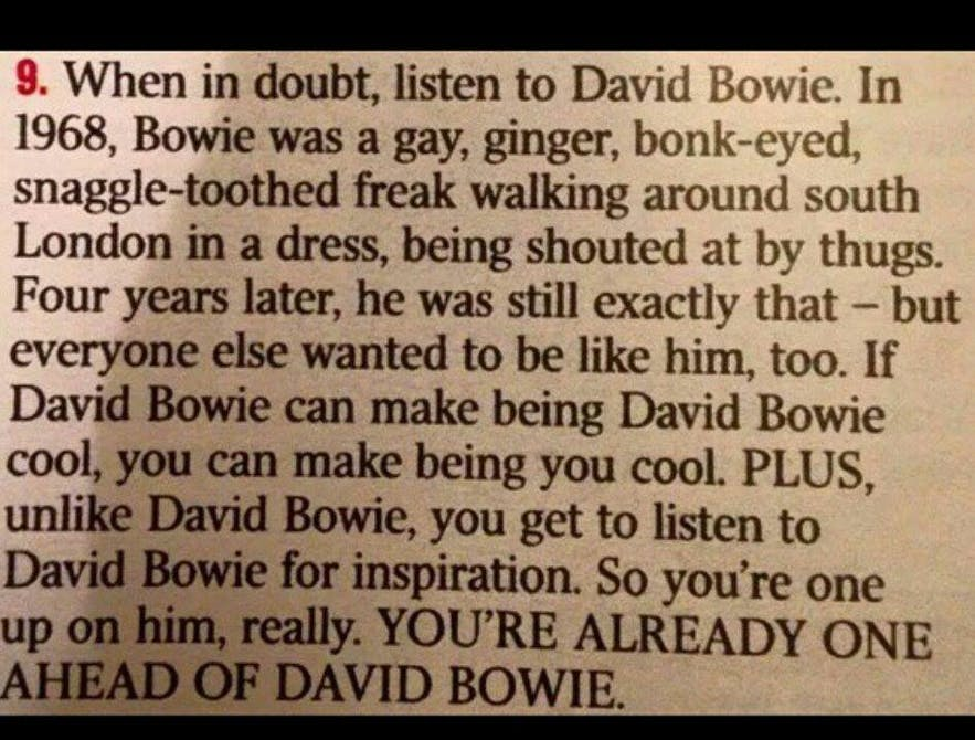 One of the many reasons why Bowie was amazing!