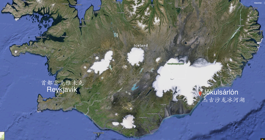 冰岛杰古沙龙冰河湖地理位置