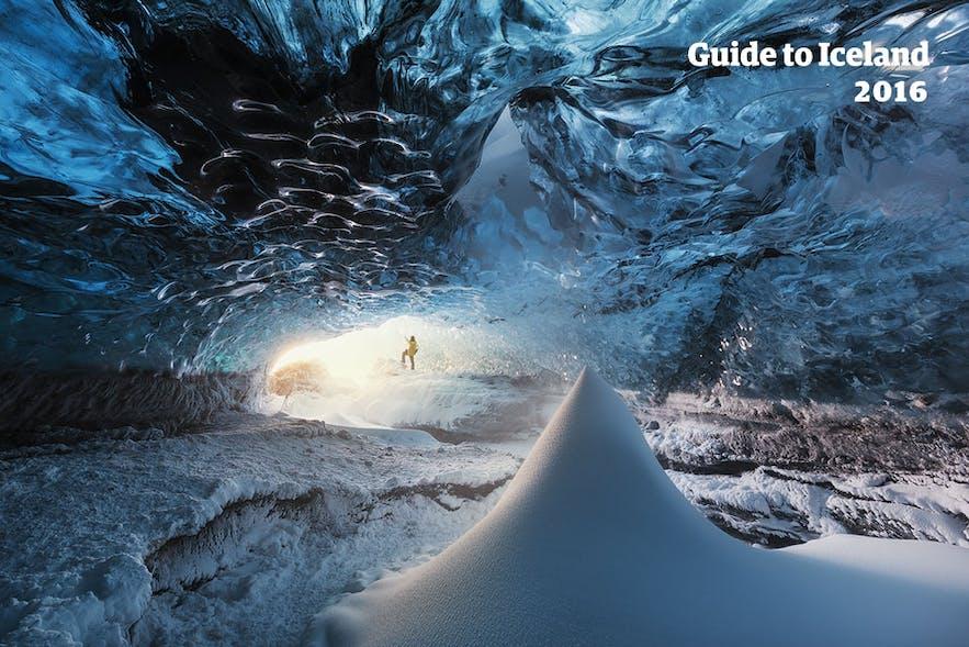 Ice cave in Vatnajökull glacier in Iceland