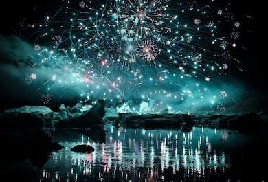 Soirée spéciale feux d'artifice à Jokulsarlon | Le 11 Août 2018