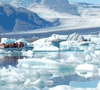 Immerse yourself in the electric blue ice of Jökulsárlón glacier lagoon.