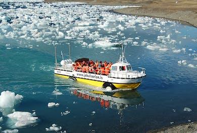 Тур по ледниковой лагуне Йокульсарлон на катере-амфибии