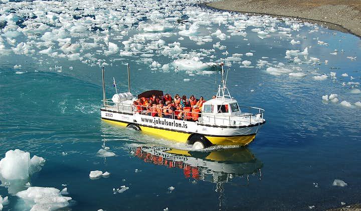 Tur med amfibiefartøy på Jökulsárlón