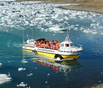 Excursión en barco anfibio en la laguna glaciar de Jökulsárlón