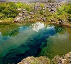 The Silfra Fissure is a continental rift feeding lake Þingvallavatn, filled with crystal clear glacier water from Langjökull in South Iceland.