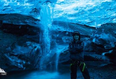 Jaskinia lodowa w Vatnajokull   Eksplorowanie lodowca