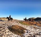The Heiðmörk Nature Reserve is perfect for horse riding in all seasons in Iceland.