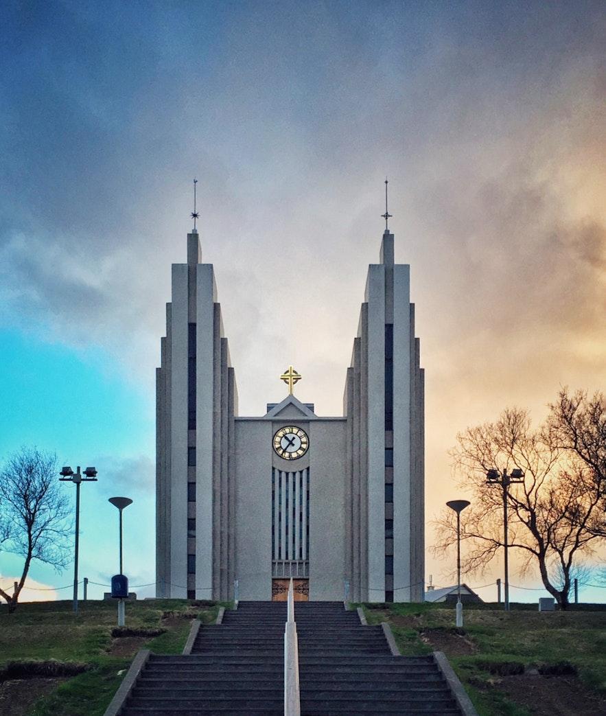 冰岛北部阿克雷里大教堂