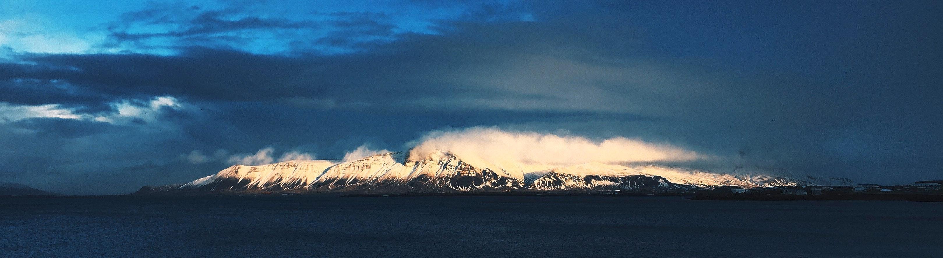 冰岛首都雷克雅未克埃斯亚山(Esja)