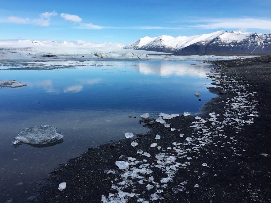 三月的冰岛杰古沙龙冰河湖