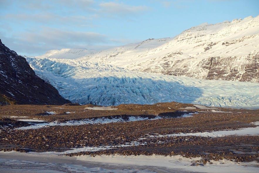 冰岛瓦特那冰川冰舌