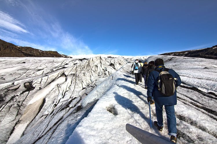 Join a hike onto Sólheimajökull glacier and enjoy the spectacular views!