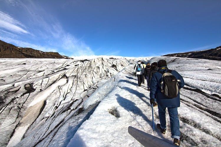 В походе на ледник Солхеймайёкюдль вас ждут ошеломительные виды.
