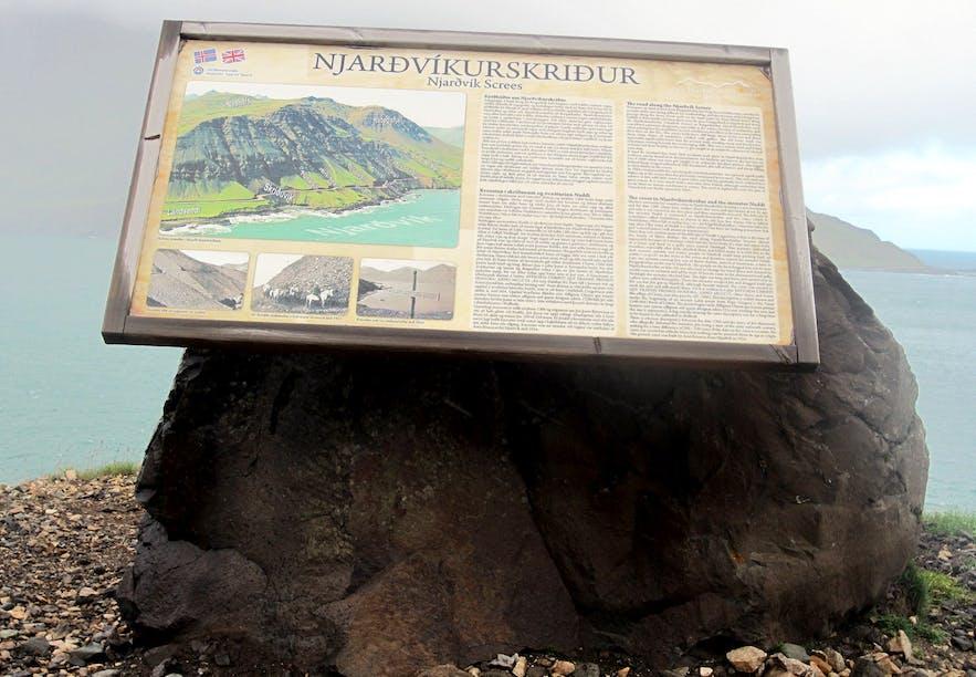 Njarðvíkurskriður Screes and the Monster Naddi in East-Iceland - Icelandic Folklore