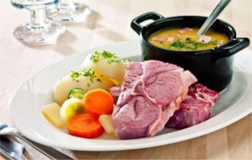 Typical salted meat for Sprengidagur
