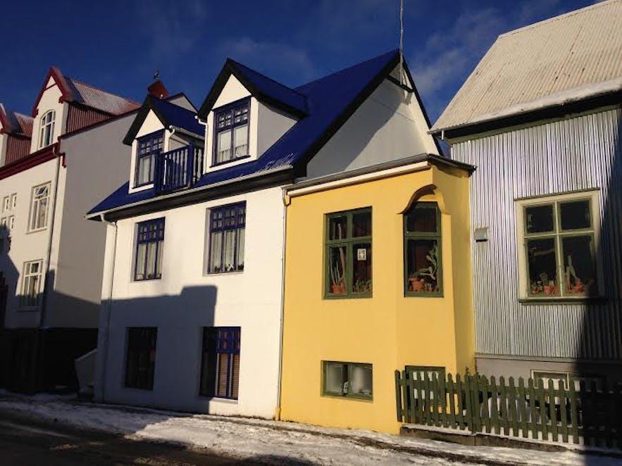 Colourful houses in Reykjavík