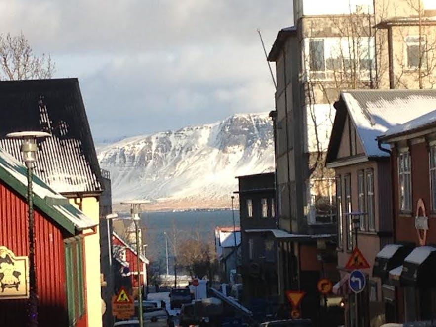 A view of Esjan from Reykjavík
