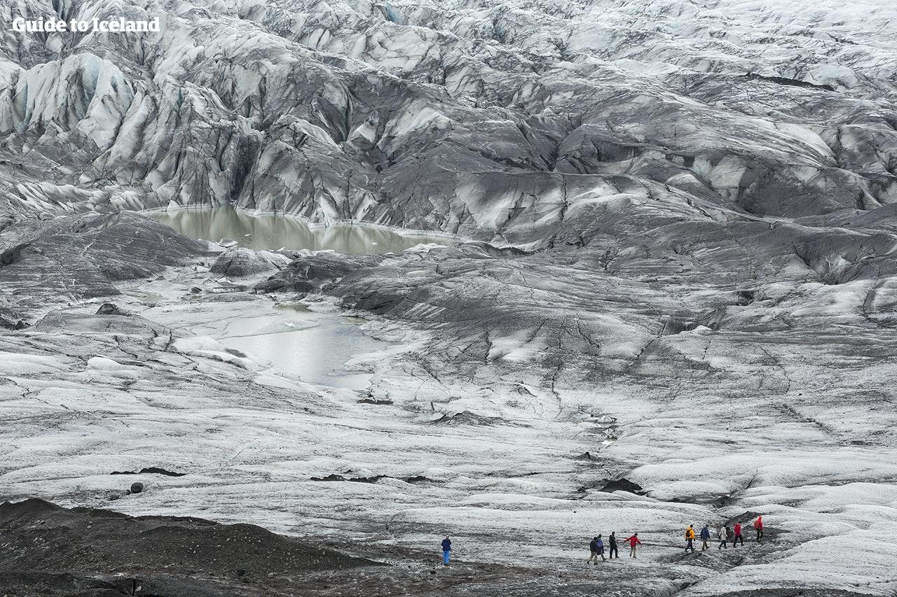 冰岛冰川徒步/冰河健行