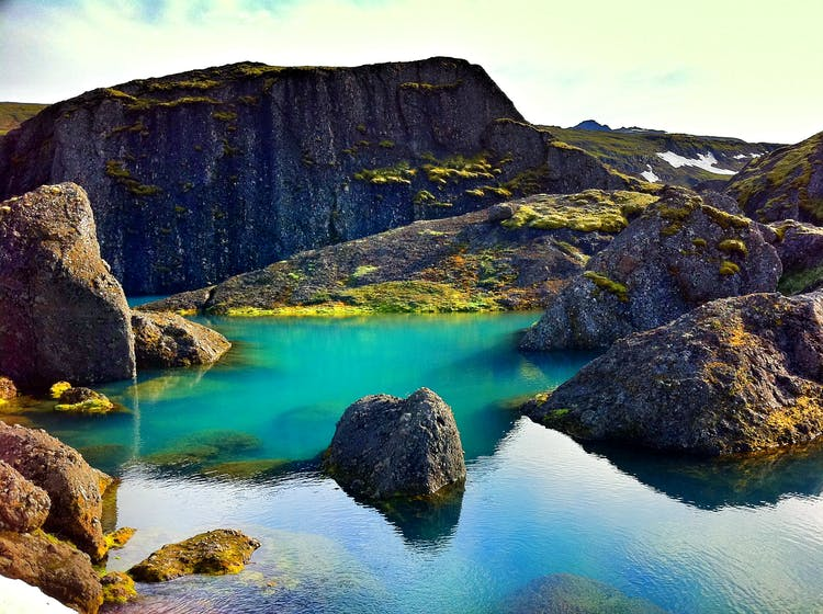 Stórurð is a popular hiking trail in East Iceland.