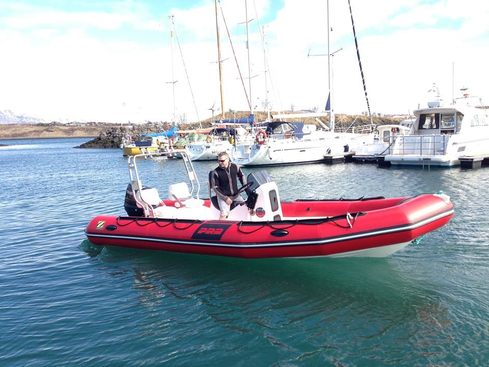 The 6.5 metre RIB boat is fitted with a 140 hp suzuki outboard motor.