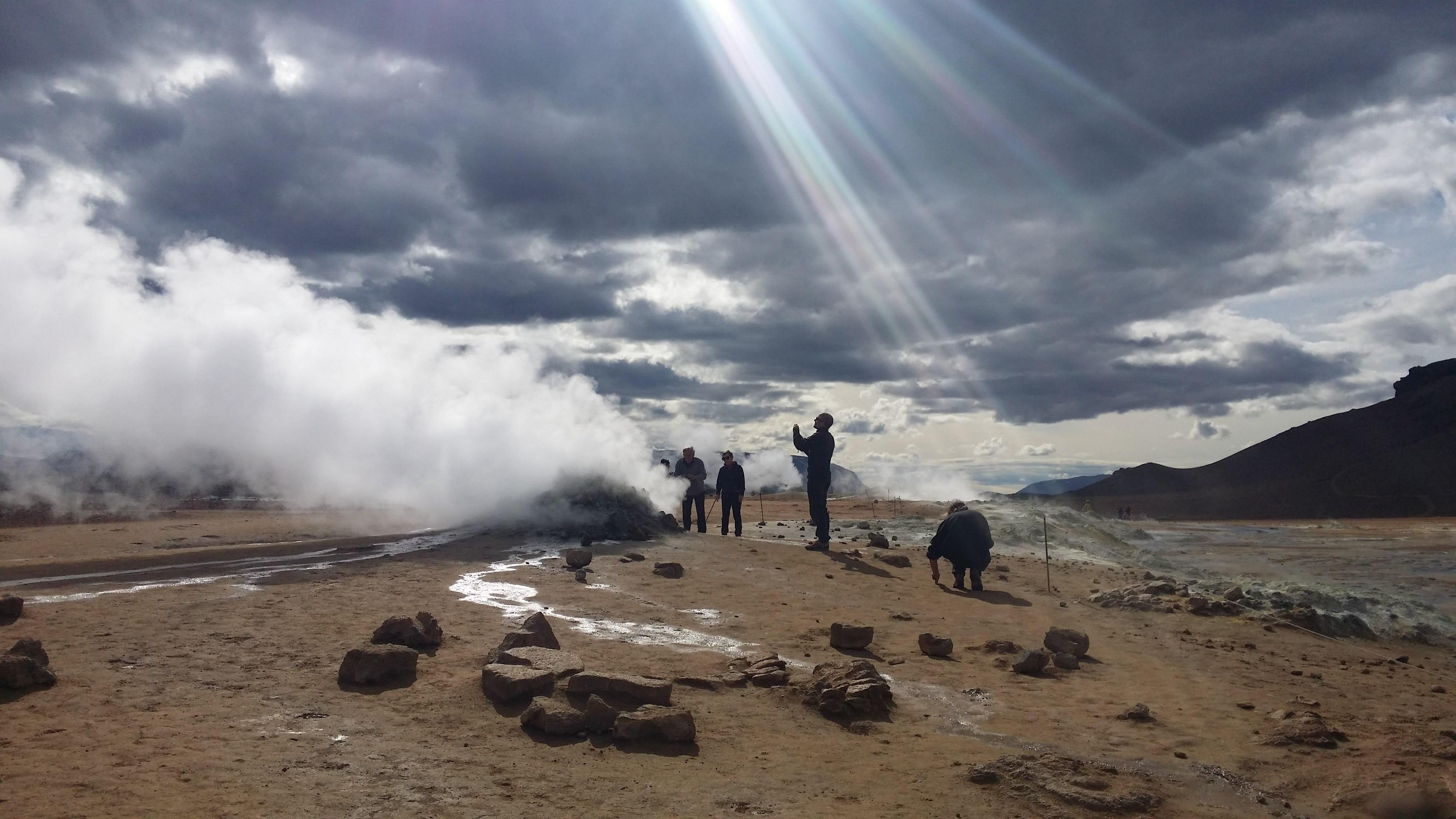 Obszar geotermalny Námaskarð na północy Islandii