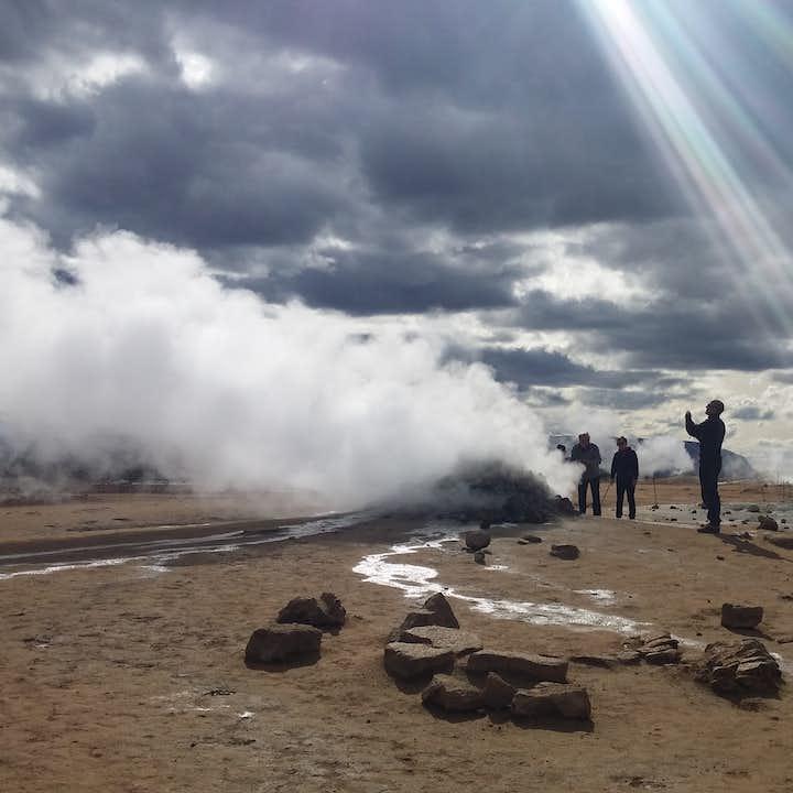 The Námaskarð geothermal area by Lake Mývatn.