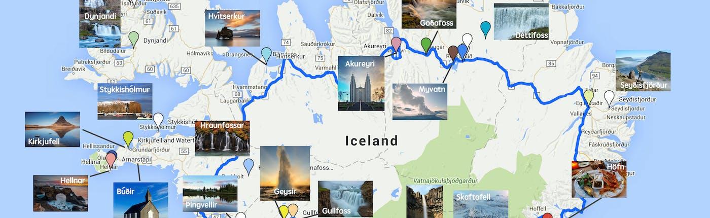 아이슬란드 링로드를 따라 펼쳐지는 명소