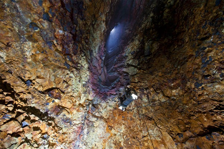 Þríhnúkagígur translates to 'Three Peaks Crater' and was discovered by caver, Árni B Stefánsson in 1974.