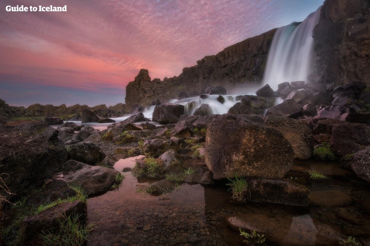 黄金圈辛格维利尔国家公园瀑布