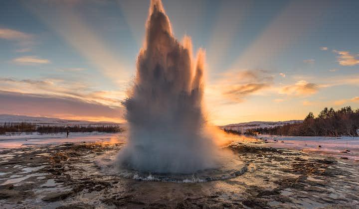 4 dni zabawy na świeżym powietrzu na południowym wybrzeżu Islandii z wędrówkami po lodowcu, Złotym Kręgiem i skuterem śnieżnym