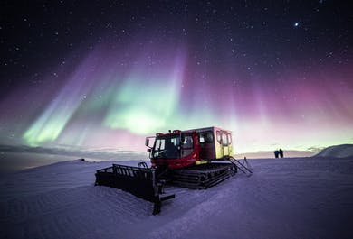 Hunting Northern Lights by Snowcat on Mulakolla Mountain