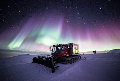 Hunting Northern Lights by Snowcat on Mulakolla Mountain