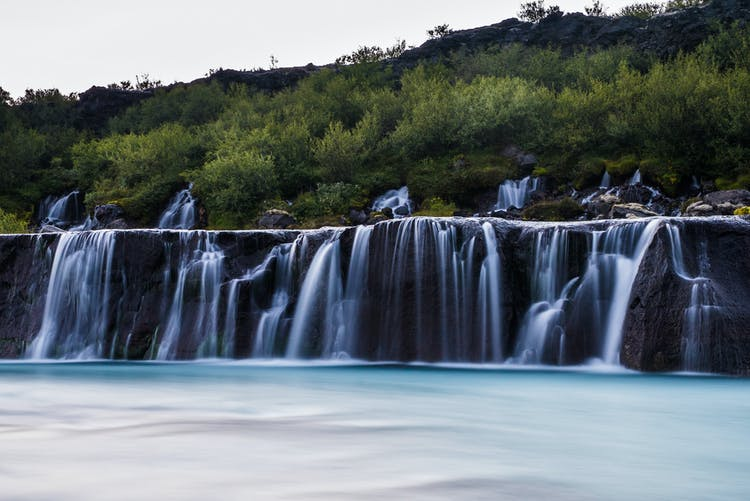 Although they are not the most powerful, Hruanfossar are amongst Iceland's most beautiful waterfalls.