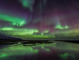 La aurora boreal en barco