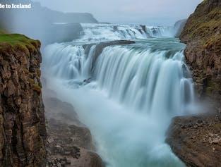 เสียงน้ำตกกุลล์ฟอสส์คำรามดังกึกก้องเมื่อตกจากผาสูง 32 เมตรลงไปที่เหวด้านล่าง