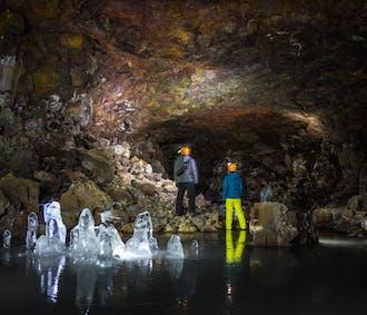 Jaskinia lodowa Lofthellir | Lot z Reykjaviku