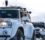 The super jeep is custom made to handle the North's snowy roads during winter.