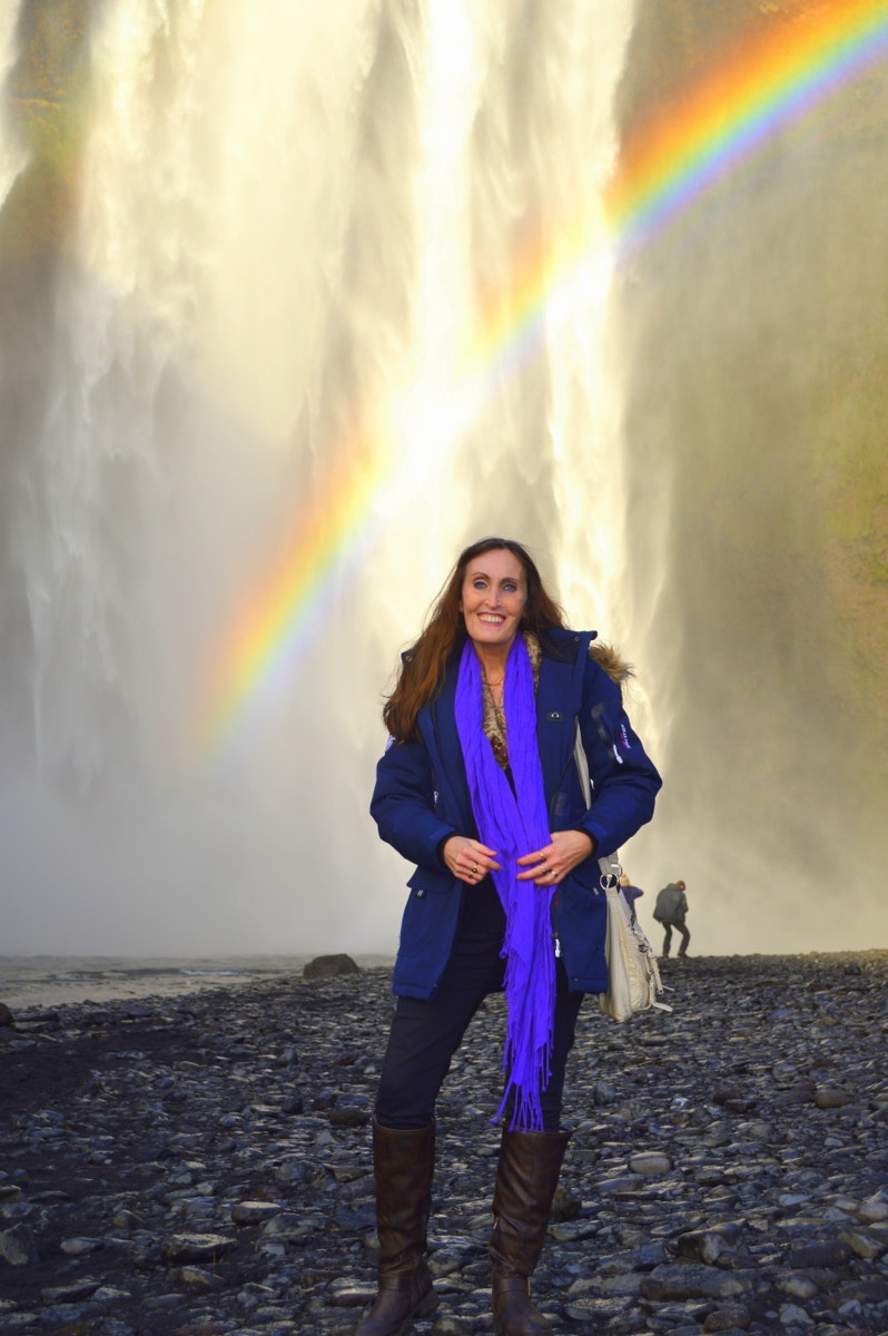 The Beautiful Skógafoss Waterfall in South-Iceland and the Legend of the Treasure Chest