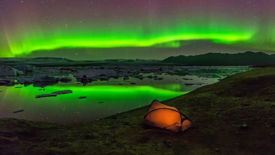 Camping during winter doesn't sound too good in Iceland, but summer camping for auroras is a great idea!