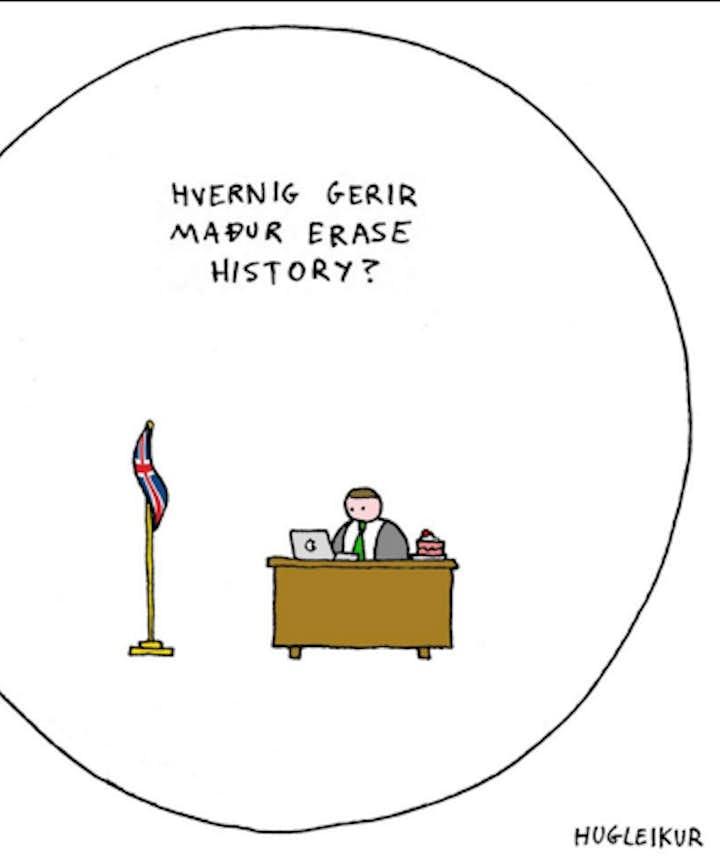 'How do I 'erase history'?' by Hugleikur Dagsson