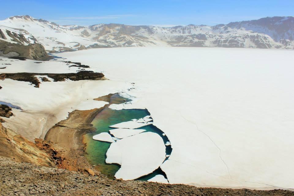 Askja's frozen lake