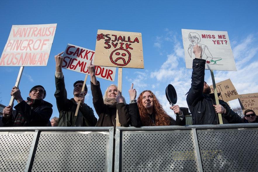 冰岛2016示威游行