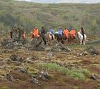 Horseback ride through the beautiful lava fields surrounding Reykjavík throughout the year.
