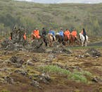Horseback ride through the beautiful lava fields surrounding Reykjavík throughout the year.