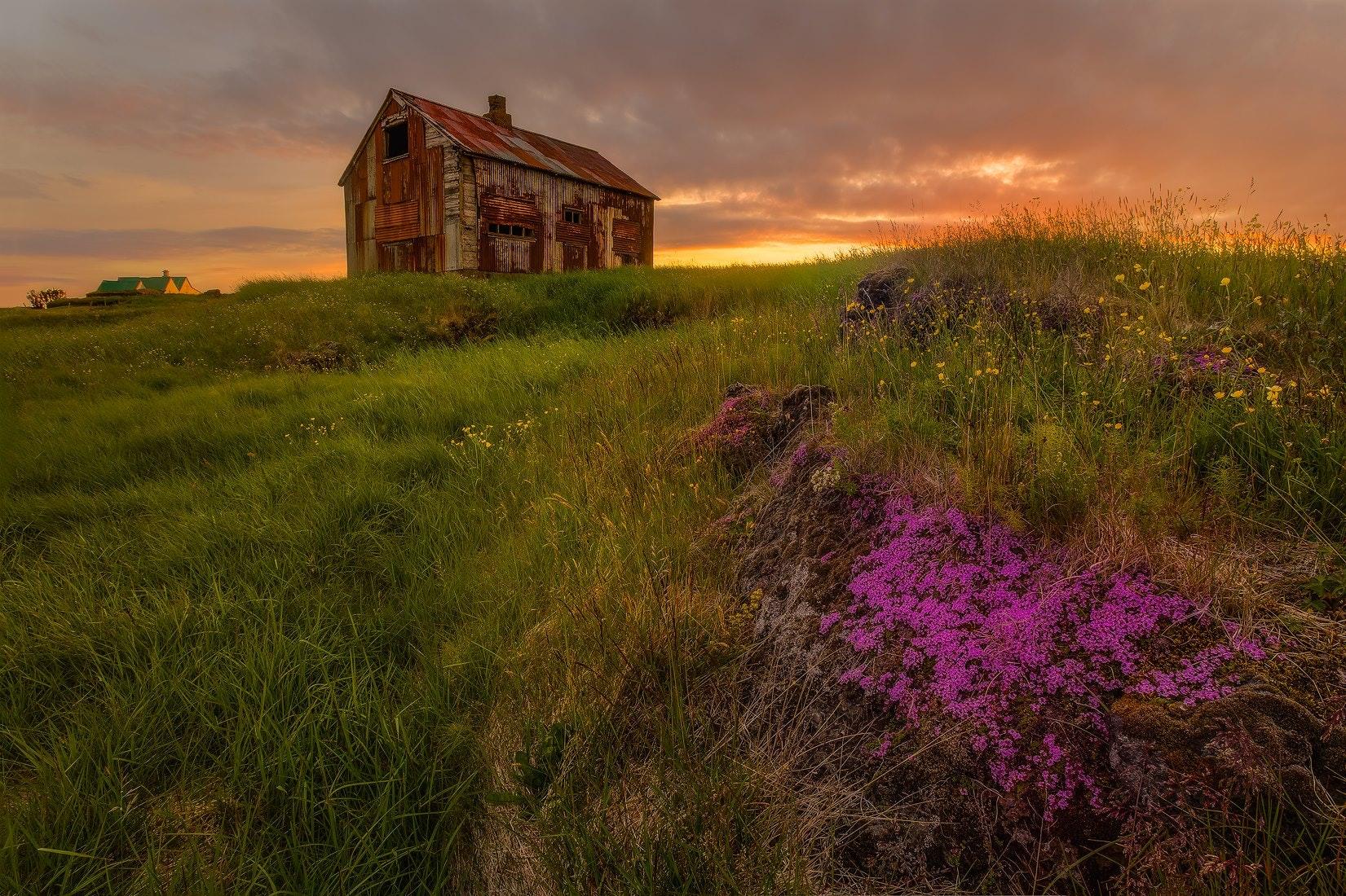 countryside of Reykjavik Iceland