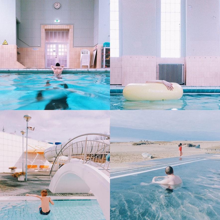 冰岛首都雷克雅未克温泉游泳池