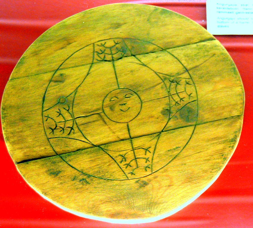 Angurgapi magical stave at the Sorcery museum in Hólmavík