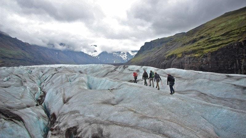 Glacier hiking in Skaftafell by Vatnajökull glacier and national park