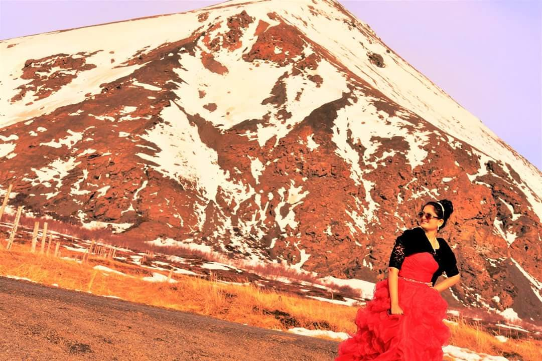 Divya Vijay in Iceland in April