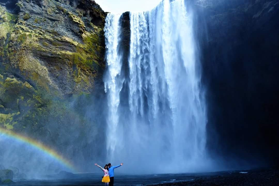 Skógafoss in April in Iceland - picture by Divya Vijay